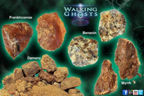 4x Incense Resin Set Resins Myrrh Frankincense Benzo Damaru Rituals Meditation